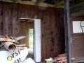 Dřevěná fasáda, vstupní část