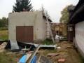 Garáž po demontáži plechové střechy